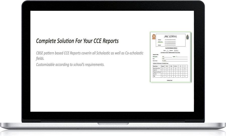 PTC Circle CCE Report Card Generation